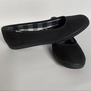 Keds black Champion Skimmer canvas slip-on shoes